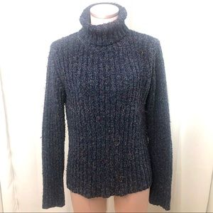 Royal Robbins Marled Blue Turtleneck Sweater